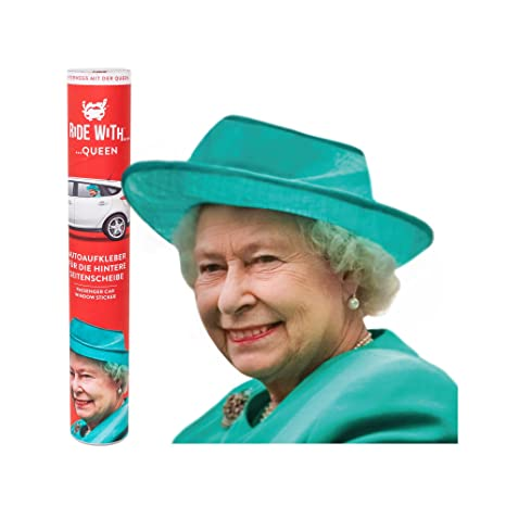 Thumbs Up Uk Ride With Queen Car Window Cling Left