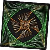 1セット ストリング アート キット スパイラル幾何学図 糸かけ DIY 工芸品 家 装飾
