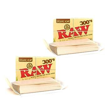 Raw Organic 300s 1 1/4 Inch Unbleached Natural Hemp