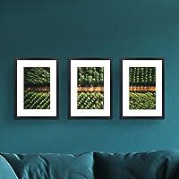 Photo Frame Set 3 PCS A3 Picture Wall Home Decor Art Gift Present Black