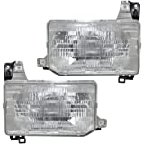 Driver and Passenger Composite Headlights Headlamps Replacement for Nissan Pickup Truck B606041G00 B601041G00
