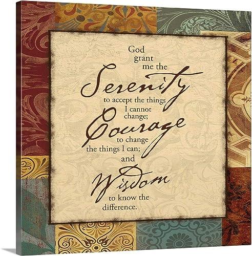 Serenity Prayer Canvas Wall Art Print