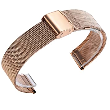 Conquro Reloj Acero Inoxidable Color Pulsera Correa para Xiaomi Huami Amazfit Bip Youth Watch (Oro Rosa): Amazon.es: Deportes y aire libre