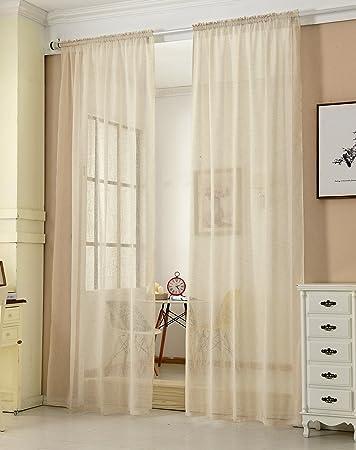 EUGAD Gardinen Vorhnge Transparent Leinen Optik Mit Kruselband Lichtdurchlssig Stores Vorhang Voile Fensterschal Dekoschal Fr Wohnzimmer