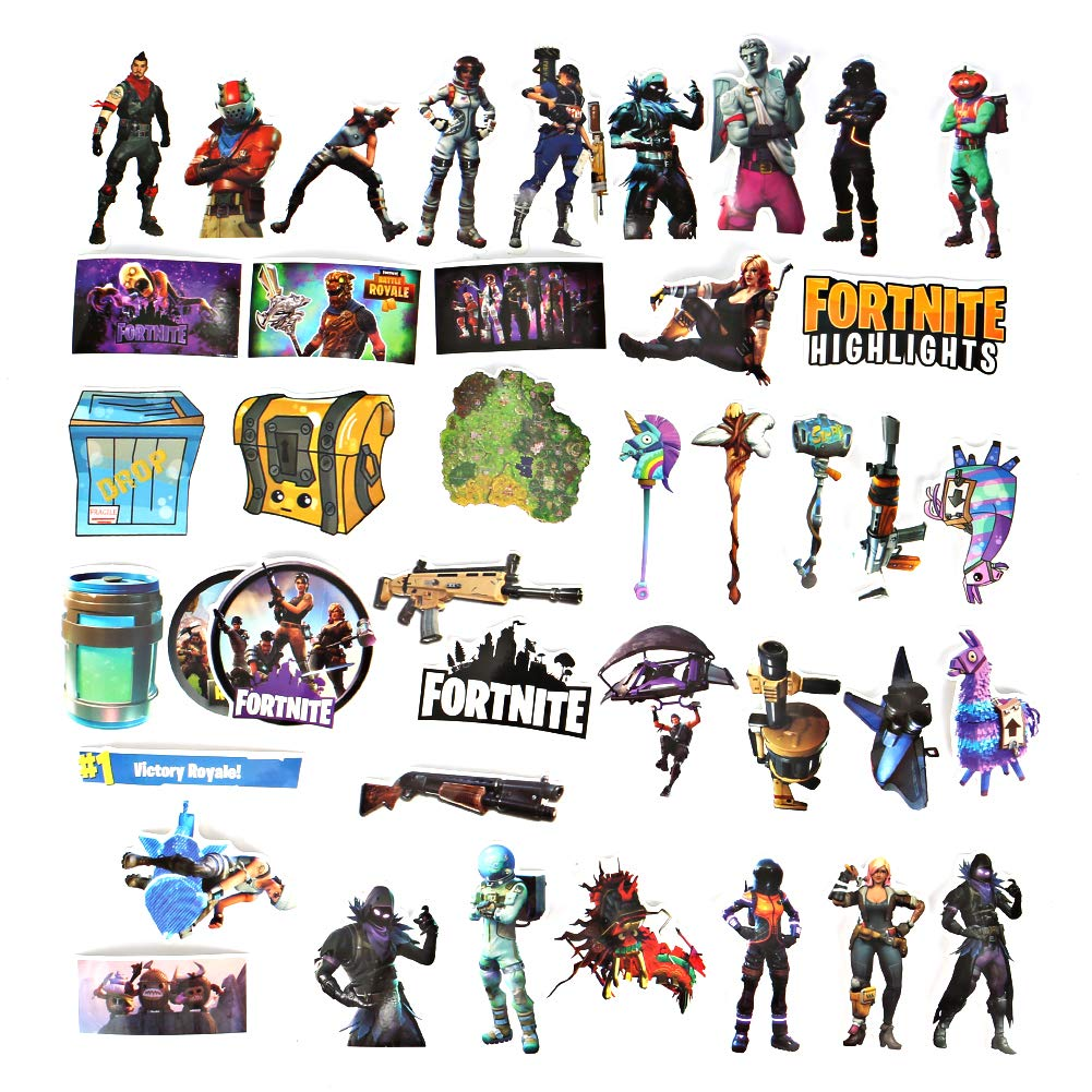 Merssyria Fortnite Stickers 40PCS, Waterproof Removabl Vinyl Party Favors Gaming Decal Stickers Car Stickere Gamer Birthday Party Supplies Gift