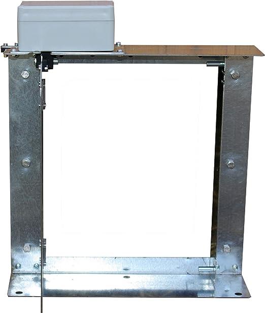 AGRIMATIC Puerta de gallinero automática. Modelo 90º.: Amazon.es: Jardín