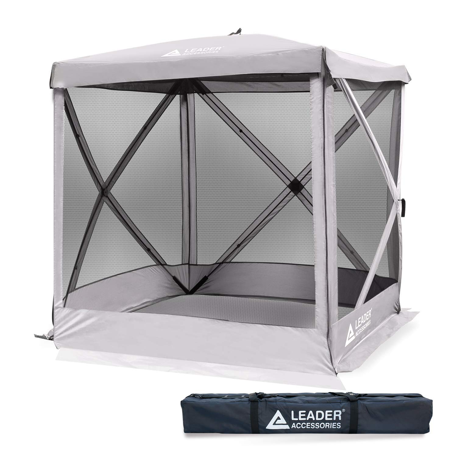 Leader Accessories Pop Up Easy Install Camping Screen House Canopy Instant Gazebo Screen