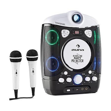 auna Kara Projectura • Kinder Karaoke Anlage • Karaoke Player Set • LCD Video Projektor • 2 x dynamisches Mikrofon • CD+G-Pla