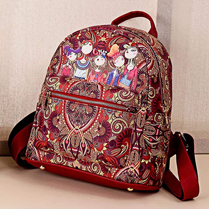 Large-Capacity Backpack Hurrybuy Women Forest Girls Pattern ...