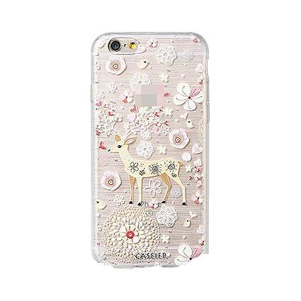 Amazon.com: Funda de silicona para iPhone 6 6S 7 8 Plus ...