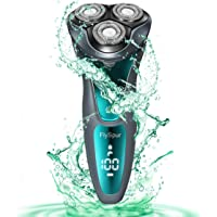 FlySpur IPX7 100% Waterproof Electric Razor With Rechargeable 3D Shaver