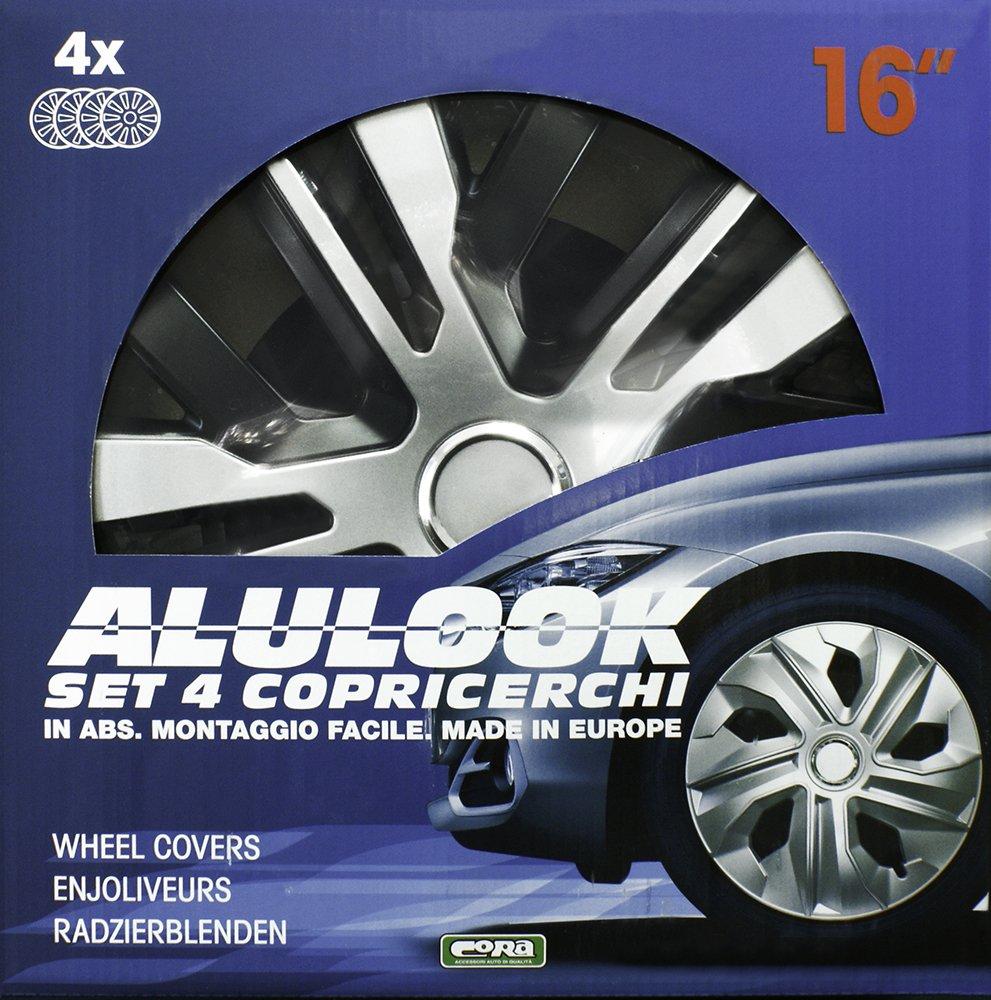 CORA 41445 - Set de 4 tapacubos Alulook Raven Mix, 15