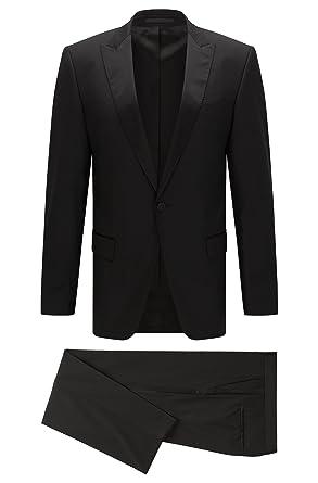 3361497b Hugo Boss Men's 'Housten/Glorious' Black Virgin Wool Slim Fit Tuxedo ...