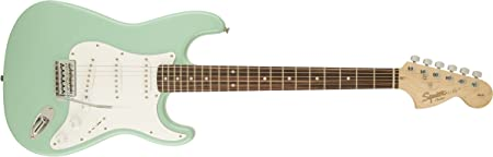 side facing squier by fender affinity series electric guitar