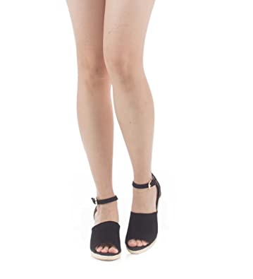 383a6299cb7 Soho Shoes Women s Casual Open Toe Ankle Strap Sandal Wedge Size 6-11 Black