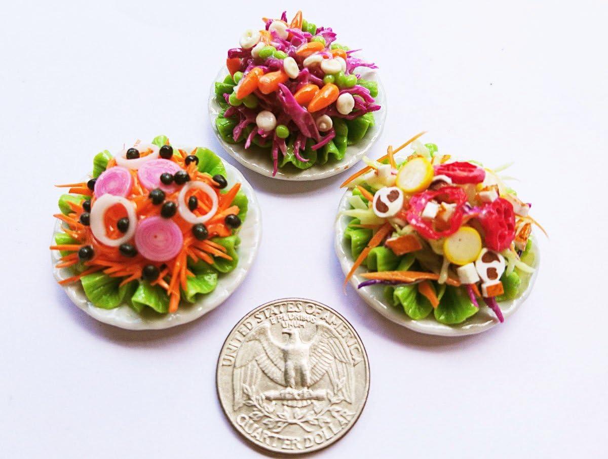 Thai 3 Vegetarian Dollhouse Miniature Food,Tiny Food,Doll Collectibles,Doll Food
