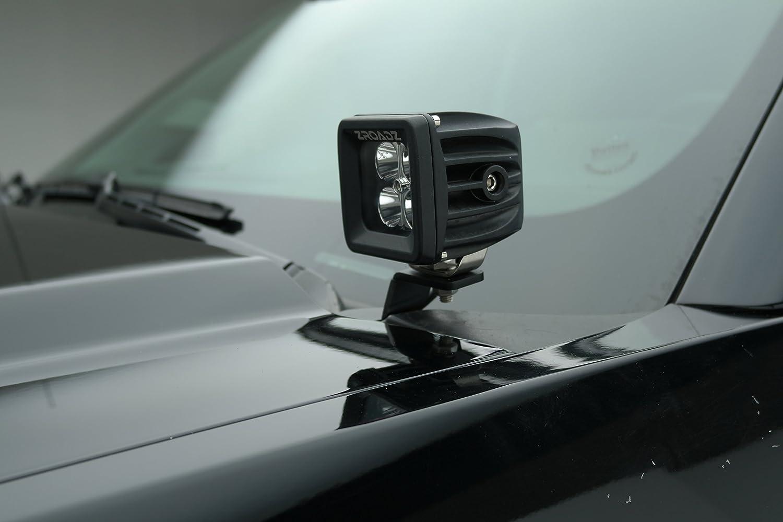 ZROADZ Z361221 Black Hood Hinges A-Pillar LED Mount 2015-2016 CHEVROLET SILVERADO 2500//3500