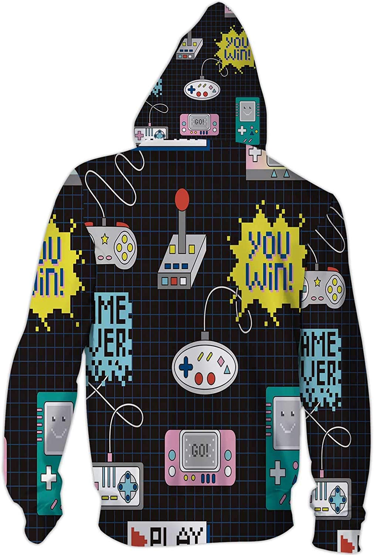 Architecture Illustration Plan Document,Mens Print 3D Fashion Hoodies Sweatshirts Blueprint S