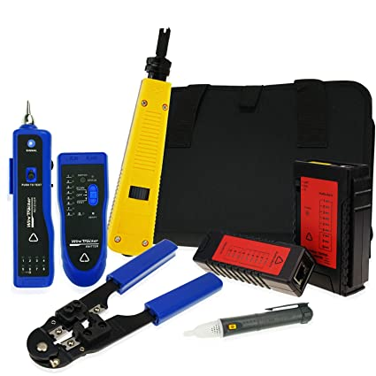 Non-contact Network Cable Tester Wire Tracker Voltage Detector Punch Tool Cable Crimper RJ45 RJ11 Cable Diagnosis Tools - - Amazon.com