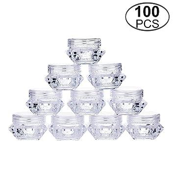 e6a02ef80a2d TMO 5 Gram Clear Jars Plastic Jars Plastic Cosmetic Container Empty ...