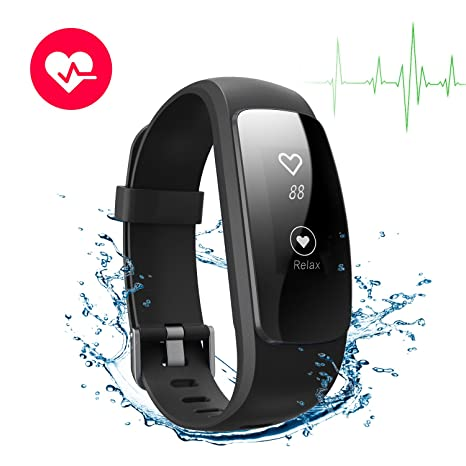 Pulsera Actividad Pulsómetro Impermeable IP67 GRANT Pulsera Inteligente con Monitor de Ritmo Cardíaco Monitor de Actividad Podómetro Monitor de ...