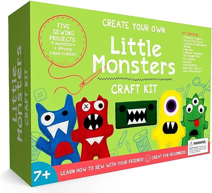 Little Monsters principiantes Kit de costura – impresionante regalo para las niñas & los niños edades 7 A 13, mejor educación Kit de manualidades y juguetes para niños: Amazon.es: Juguetes y juegos