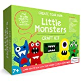 Craftster's Sewing Kits Little Monsters Beginners Sewing Craft Kit for Kids (Ages 7 to 12)