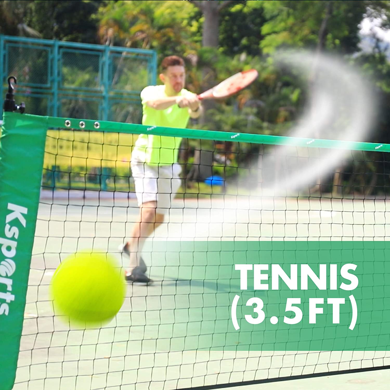 Badminton Net Bundle 3pc Red | 10ft Multi Sports Combo Net |Tennis, Soccer Tennis, Pickleball, Badminton