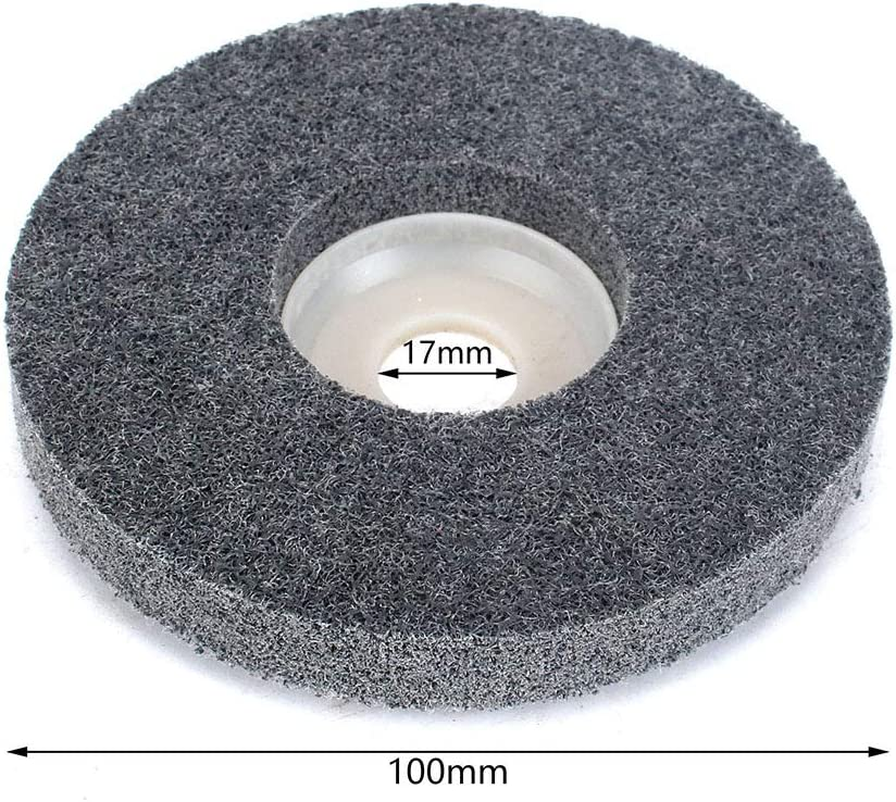 4-12 Inch 320 Grit Abrasive Grinding Brush Wheel Souring Disc Polishing Tool