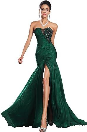 eDressit New Strapless Green Evening Dress Prom Ball Gown (00134604), SZ12