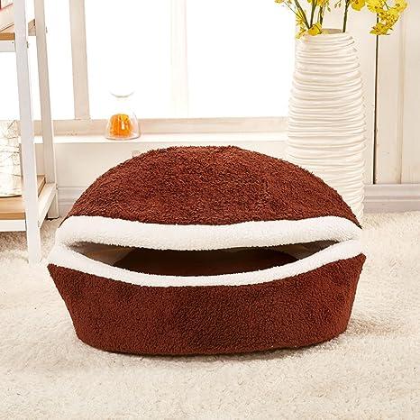 Resistente al Viento hamburguesa estilo casa de mascota Perro Cama Gato Cama mascotas cama de la