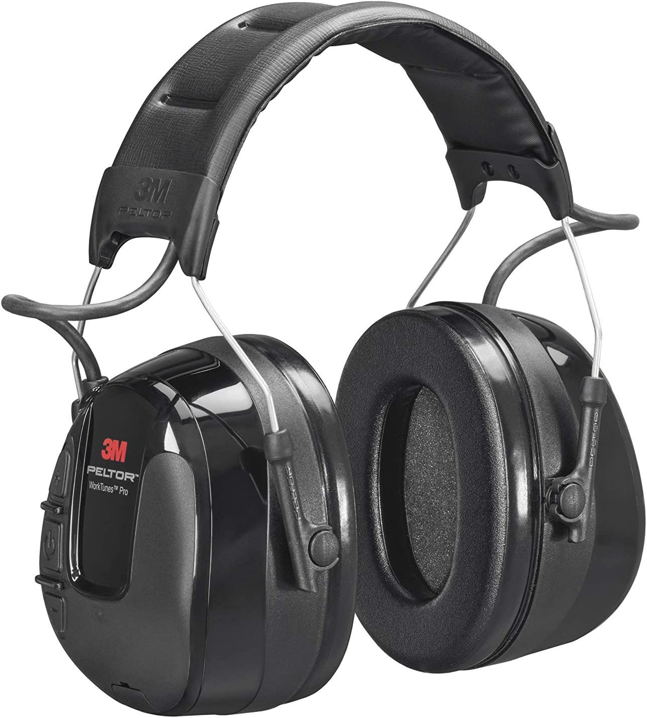 Hearing protection with FM radio function for an improved work experience Battery Powered 32 dB 1x Peltro headset in black 3M Peltor WorkTunes Pro FM Radio Headset Black