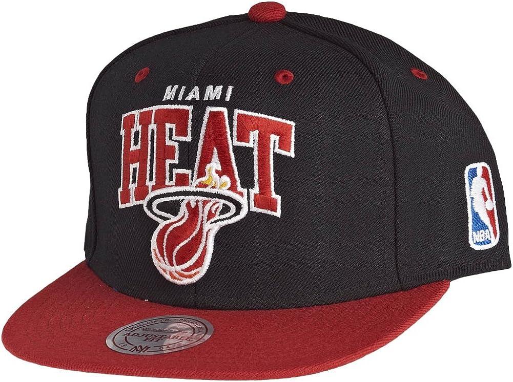 Mitchell & Ness NBA Miami Heat 2 Tone Arch Black Snapback Cap ...