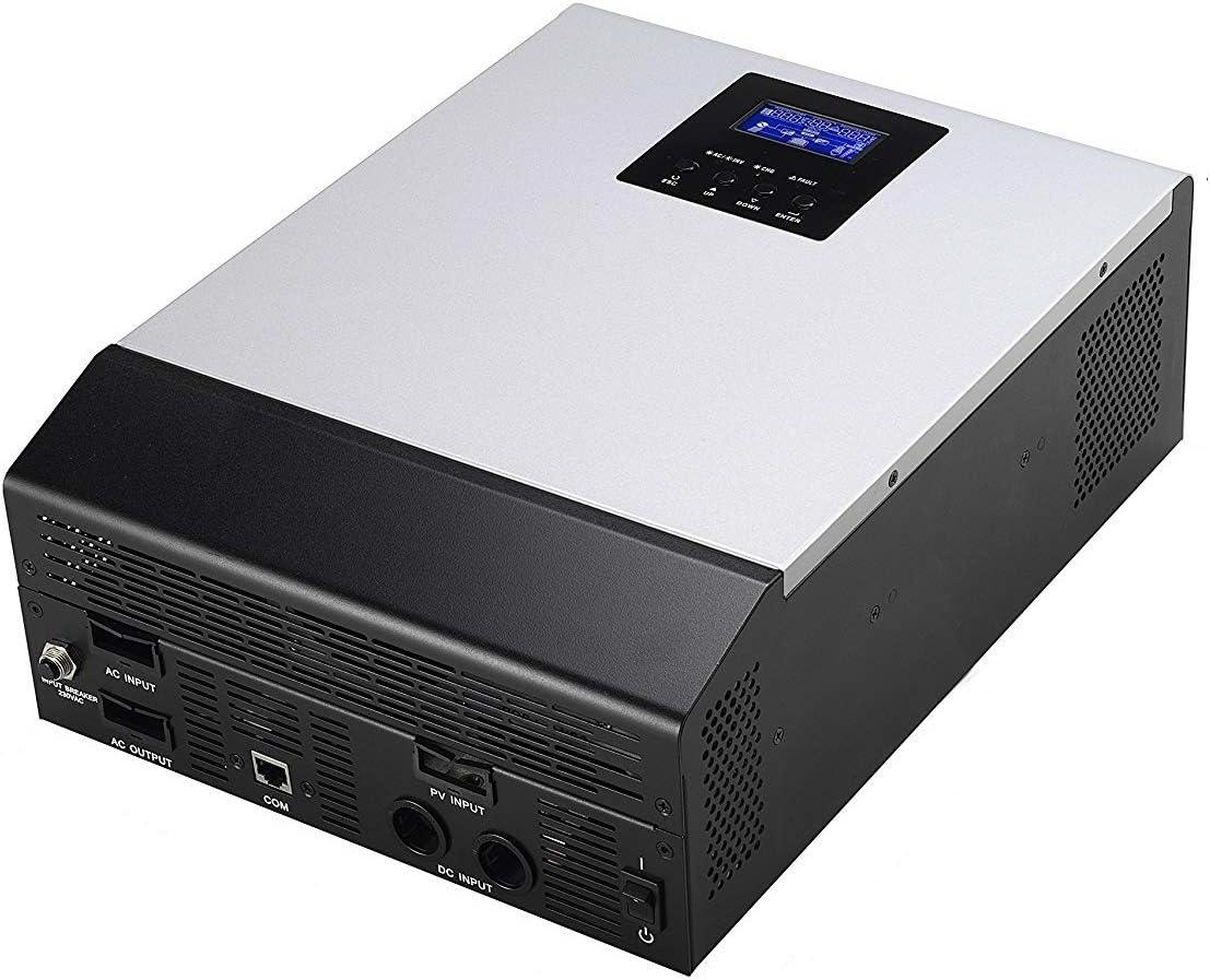 PlusEnergy Inversor Onda Pura Multifunción 3000VA DC24V a AC220V PWM 50Amp Cargador de bateria 30Amp 3 En 1