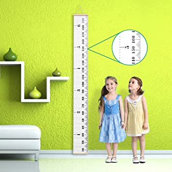 Amazon Baby Growth Chart Canvas Wall Hanging Rulers For Kids