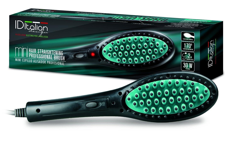 Cepillo Alisador Cerámico Mini para el pelo, 30W, Negro y Verde - Italian Design: Amazon.es: Belleza