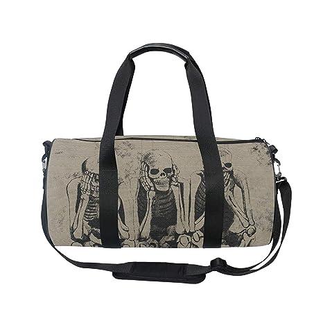 7adec9e8f6d1 Amazon.com : OuLian Gym Duffel Bag Mexican Sugar Skull Sports Camp ...