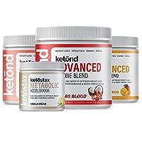 Ketond Advanced Ketone Supplement — Best Ketone Weight Loss Supplement — Tigers Blood, Citrus Mango, Peach (45 Servings + 1 Free Metabolic Accelerator)