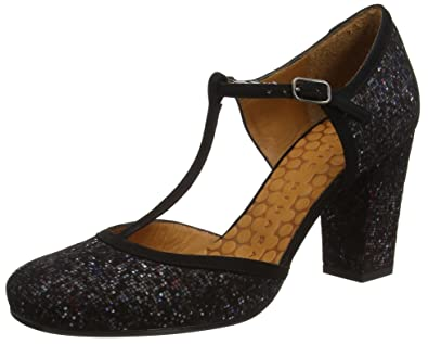 Chie Mihara Anie, Barre en T Femme - Or - Gold (Ginza oro-Ante Negro), 37