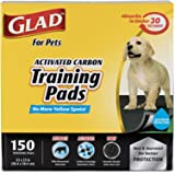 Glad for Pets Black Charcoal Puppy Pads-Puppy Potty Dog Training Pads That Absorb & NEUTRALIZE Urine Instantly-Training Pads