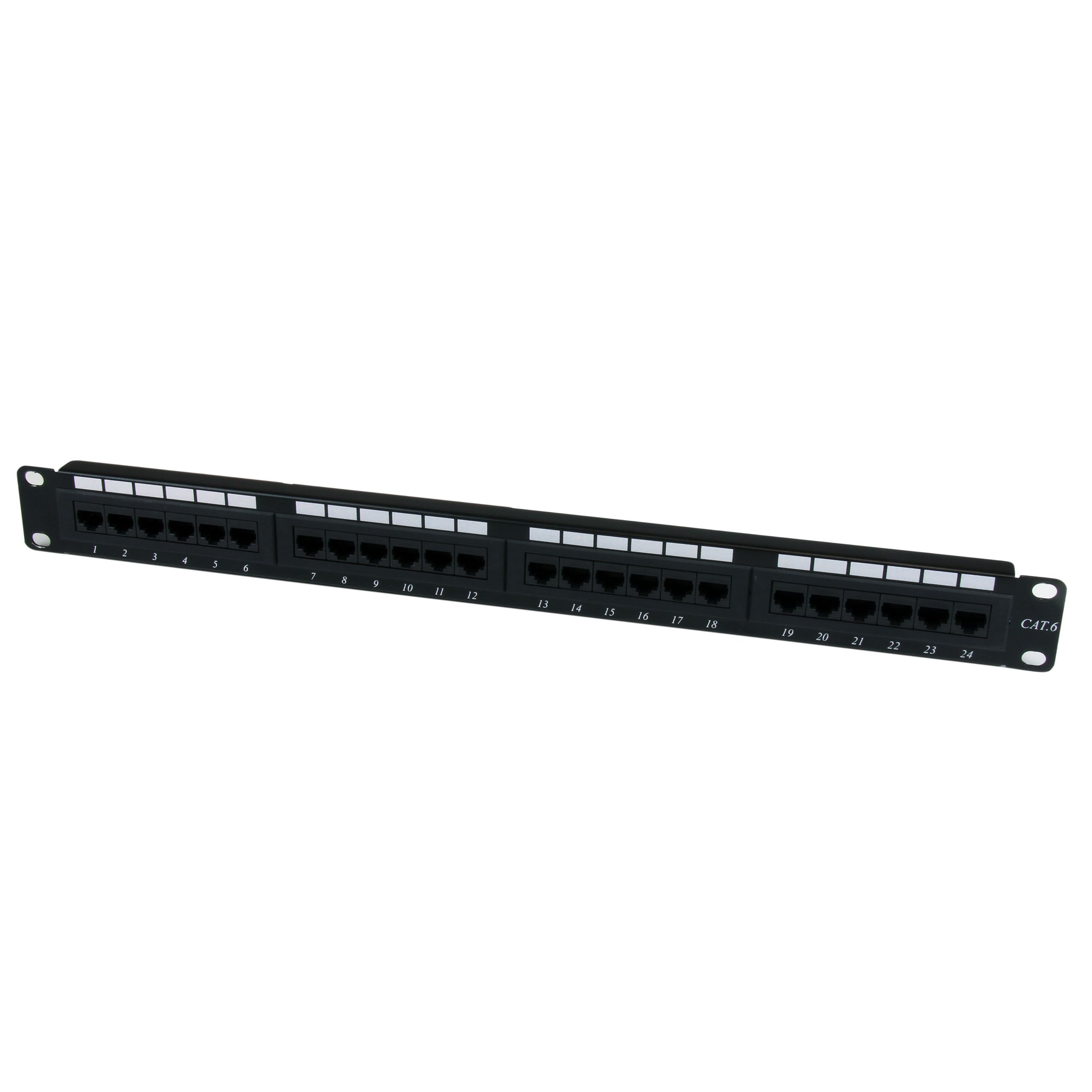 24 Port 1U Rackmount Cat 6 110 Patch Panel - 24 port Network Patch Panel - RJ45 Ethernet 110 type Rack Mount Patch Panel 1U