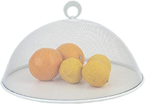 Home Basics Round Mesh Collapsible Food Plate Net for Indoor/Outdoor Parties, Picnic & BBQ, Cover Fruits, Vegetables, Baked Goodies