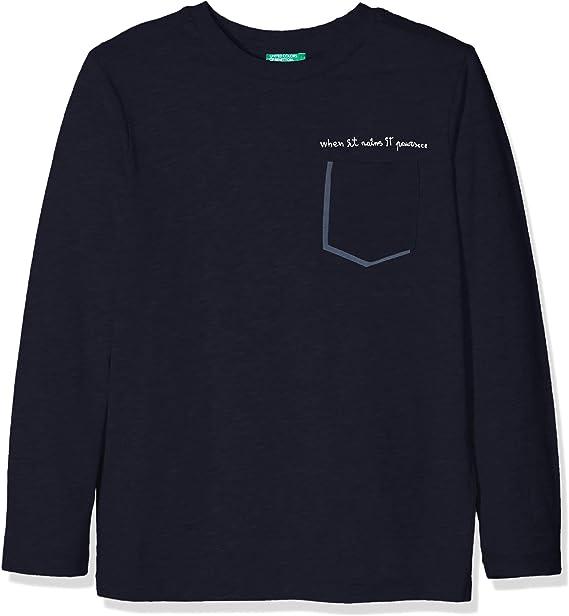 United Colors of Benetton T-Shirt L/s Camiseta, Azul (Blue 13c), 116 (Talla del Fabricante: Small) para Niños: Amazon.es: Ropa y accesorios