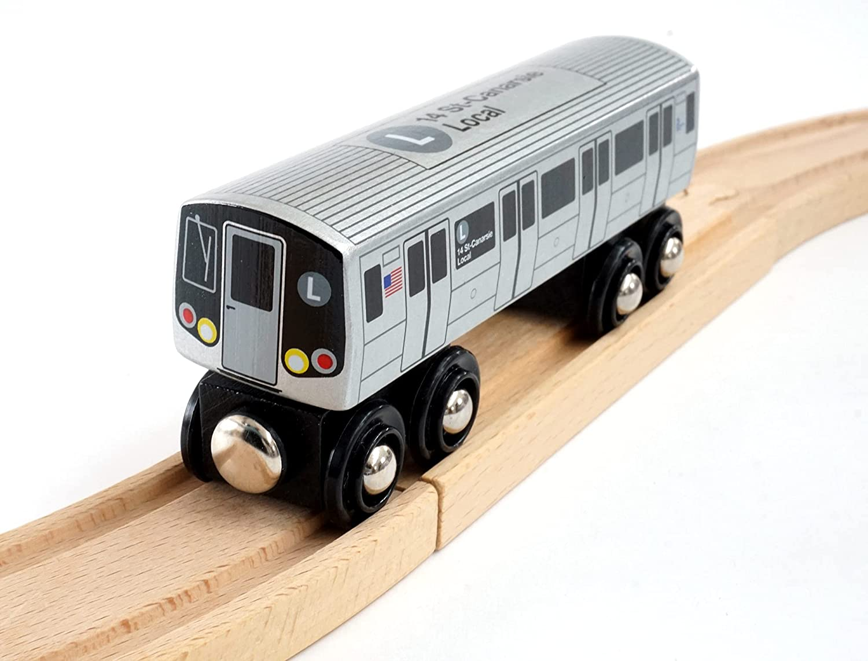 Munipals MP01-110Z NYC Subway Z-Train Nassau Street Express Wooden Railway Compatible