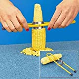 Cherry Queen Corn Cutter Kernal Stripper for Corn on The Cob Stainless Steel Teeth New
