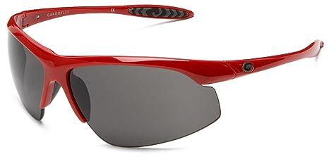 9bf88a15bce1 Gargoyles Men s Striker Sport Sunglasses Red Frame and Smoke Lens ...