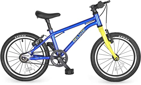 BELSIZE 16-Inch Luxury Belt Drive Kid's Bike for Boys and Girls, 12.57 lbs Lightweight Aluminium Alloy Bicycle, with Dual Hand V-Brakes and Adjustable Height Seat, Silver/Blue/Pink