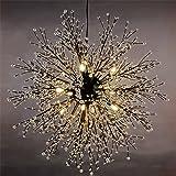 Unitary Brand Contemporary Globe Crystal Pendant Light Max
