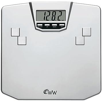 Conair WW31X Báscula personal electrónica Plata - Báscula de baño (Báscula personal electrónica, 150 kg, 100 g, kg/lb, Plata, LCD): Amazon.es: Hogar