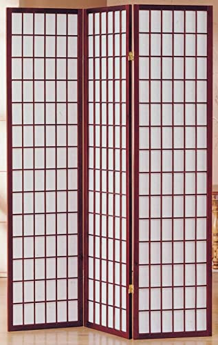 Milton Greens Stars 3-Panel Sam Room Divider, Cherry